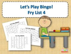 Fry List 4 - Words 301 to 400 40 Bingo Cards with Free Space 25 playing spaces per cards Call list of the 100 words randomized Print on card stock and laminate for multiple uses Print on regular paper for one-time use