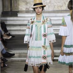 Georgeous collection focuses on embroidery at Temperley London inspired by Cuban motifs.