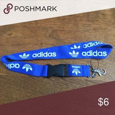 New Adidas Lanyard ID Badge Holder Blue & White Brand new without tags adidas Accessories Key & Card Holders