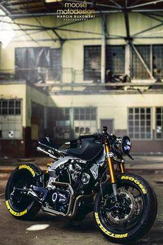 Cafe Racer Motorcycle, Moto Bike, Cool Bicycles, Cool Bikes, Vrod Custom, Yamaha Virago, Futuristic Motorcycle, Cafe Racing, Chopper Bike