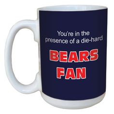 TreeFree Greetings lm44112 Bears Football Fan Ceramic Mug with FullSized Handle 15Ounce -- You can find out more details at the link of the image.