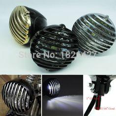 81.68$  Watch here - http://alize8.worldwells.pw/go.php?t=32443738326 - Universal Motorcycle Headlight Fog light Bulb Grill For Harley Bobber Chopper Cafe Racer Custom Bikes