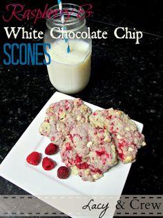 White Chocolate Chip & Raspberry Scone (Great Harvest Copycat) Recipe