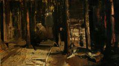 Adrian Ghenie : Flight into Egypt, 2008, oil on canvas, 120 x 213 cm
