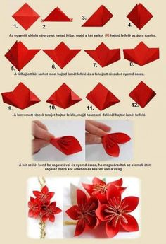 Chinese New Year Crafts For Kids, Chinese New Year Party, Chinese New Year Decorations, Chinese Crafts, New Years Decorations, Paper Flowers Craft, Origami Flowers, Origami Art, Flower Crafts