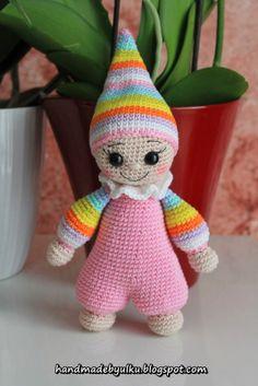 Handmade by Ülkü: Amigurumi Bunter Zwerg / Cuddly Baby