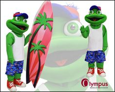 One of the new waterpark themed mascot costumes we created for our booth at IAAPA last year. He very quickly went to a good home. :) www.olympus-mascots.com