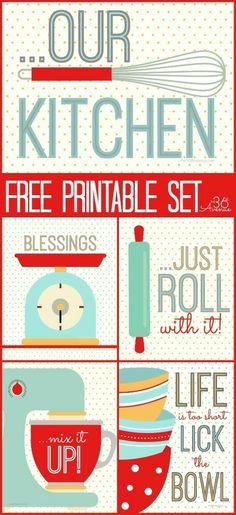 Free Printables ~ Kitchen Set