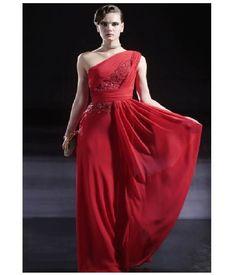 Red Ciffon Prom Dress | Women Dress Ideas