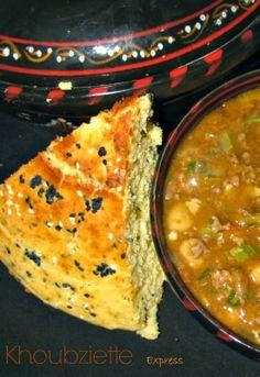 Algerian semolina batter bread; cornbread style