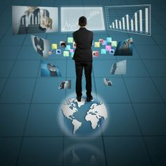 Modern technology with computer, phone, tablet, business person Online Marketing, Digital Marketing, Creativity And Innovation, Business Advice, Information Technology, Get The Job, Cool Photos, Concept, World