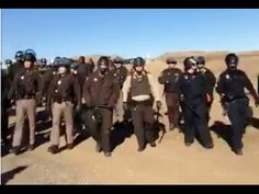 11/12/16 Riot Police make arrests north of Standing Rock (Live-stream) - YouTube