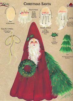 Christmas Santa RTG for Binder by Donna Dewberry   eBay