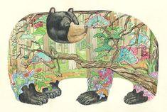 Artist: Daniel Mackie  Title: Bear in the woods