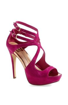 Love the wraparound strap detail on this #sandal in #fucshia http://rstyle.me/n/fs26unyg6