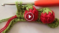 How To Easy Crochet Strawberry Stitch - crochet . - How To Easy Crochet Strawberry Stitch – Crochet - Crochet Crocodile Stitch, Stitch Crochet, Bobble Stitch, Crochet Stitches, Knit Crochet, Blanket Crochet, Chrochet, Crochet Flower Patterns, Crochet Flowers