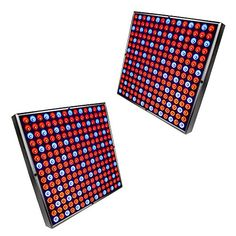 HQRP 450 LED Red  Blue Indoor Garden Hydroponic Plant Grow Light Panels  System 90 Watt plus Hanging Kit  HQRP UV Meter *** Continue reading at the image link.