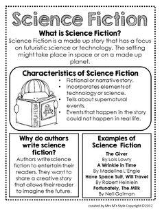 Science Fiction Genre Anchor Chart