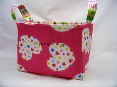 PK Fabric Basket in Simply Sweet  Ready To Ship  by PKStuff, $14.50