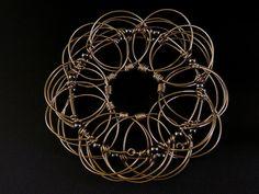 Wire Mandala - Universe Story - Hematite Beads. $40.00, via Etsy.