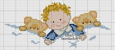 This Pin was discovered by Crm Tiny Cross Stitch, Cross Stitch For Kids, Cross Stitch Borders, Modern Cross Stitch Patterns, Cross Stitch Designs, Cross Stitching, Cross Stitch Embroidery, Hand Embroidery Patterns, Needlework