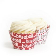 Baseball Cupcake Wrappers Reversible BULK (12 Wraps) Sports cupcakes: watching television and cheering on the home team is a time honored tradition in most houses. Decorate your favorite cupcake flavor with the familiar colors of his team. Draw a few footballs, baseballs or basketball designs for a great sports cupcake.