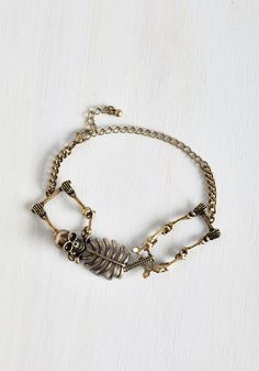 Carpal Diem Bracelet in Gold. Make no bones about it, this gold skeleton bracelet will create a solid foundation for your day! Skeleton Bracelet, Retro Watches, Cute Bracelets, Skull Art, Handbags On Sale, Vintage Style Outfits, Modcloth, Handbag Accessories, Bracelet Watch
