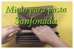DIY   Como Fazer Miolo para pasta sanfonada                                                                                                                                                                                 Mais