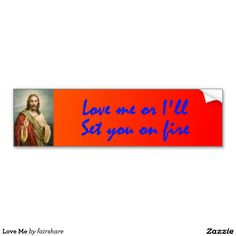 Love Me Car Bumper Sticker