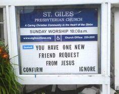 Friend Request from Jesus?