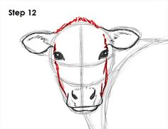 Uplifting Learn To Draw Faces Ideas. Incredible Learn To Draw Faces Ideas. Painting & Drawing, Cow Drawing, Cow Painting, Learn Drawing, Animal Paintings, Animal Drawings, Art Drawings, Drawing Animals, Afrique Art