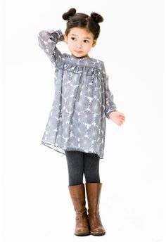 girl's #grey and #olive cute dress idea for fall layering Kids ...