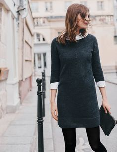 Tamara Knitted Tunic WV135 Clothing at Boden