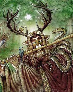 Cernunnos the horned one