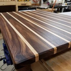 Wood Cutting Board Kitchen Prep Station Butcher Block
