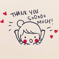 Thank you soooo much! #Heart #Girl #Draw #Quote
