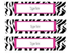 Oodles of Teaching Fun: More Free Zebra Theme Items