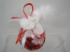 boule mtal rouge orchide vente contenant drages mariage originaux drageslad - Contenant Drages Mariage Originaux