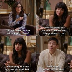 the good place tahini scenes quotes funny jameela jamil outfits style fashion hair Funny Quotes For Instagram, Funny Quotes For Teens, Funny Movie Quotes, Tv Show Quotes, Couple Quotes, Quotes Quotes, Outfit Stile, Place Quotes, Sassy