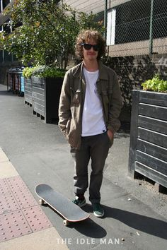 Men's Street Style | Skater Boy - Keeping things baggy and oversized for ultimate skater cool. The oversized jeans are practical too for when out on your board. | Shop the look now at The Idle Man