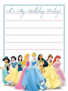 disneyroni uploaded this image to 3x4 and 4x6 disney cards see the album - Disney Princess Party Invitations