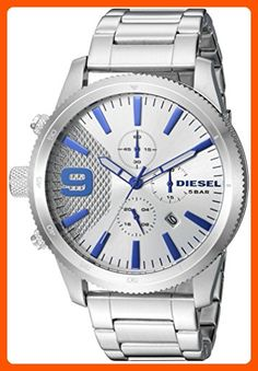 Diesel Men's DZ4452 Rasp Chrono Silver Watch - Mens world (*Amazon Partner-Link)