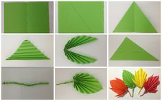 how to make leaves with paper - Google Search
