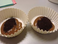 """brown paint and coffee grounds for """"mud"""" painting."""