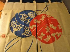 Vintage Japanese Noren Entrance Curtain