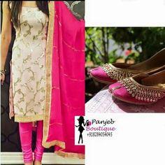 Punjabi Salwar Suits, Designer Punjabi Suits, Indian Designer Wear, Pakistani Dresses, Indian Dresses, Salwar Kameez, Indian Suits, Indian Attire, Indian Ethnic Wear