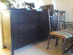 IKEA Hemnes Chest Of Drawers Used As Dresser Side Table In Dining Room
