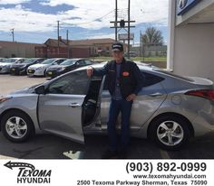 https://flic.kr/p/FHagPz | Happy Anniversary to Bill on your #Hyundai #Elantra from Mike Red Robinson at Texoma Hyundai! | deliverymaxx.com/DealerReviews.aspx?DealerCode=L967