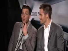 Exactly why I love Chris Pine and Zachary Quinto as the new Kirk and Spock.  I just hope you get to see more of this type of chemistry in the sequel. :-)