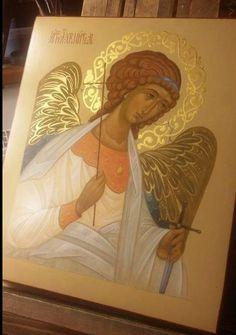 Christian Drawings, Christian Art, Archangel Gabriel, Archangel Michael, Angel Pictures, Jesus Pictures, Paint Icon, Angel Sculpture, Religious Paintings